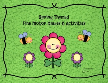 Spring Themed Fine Motor Skills and Activities