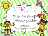 Spring Themed First & Second Grade Literacy Packet