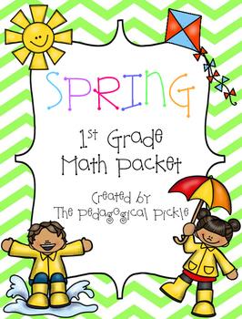 Spring Themed First Grade Math Packet