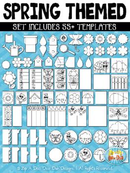 Spring Flippable Interactive Templates {Zip-A-Dee-Doo-Dah Designs}