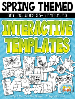 Spring Themed Flippable Interactive Templates Set — Includ