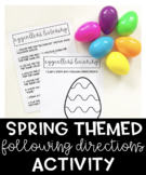 Spring Themed Following Directions Activity
