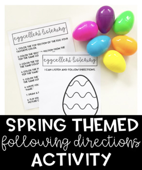Easter Themed Following Directions Activity