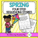 Spring Themed Four Step Sequencing Stories