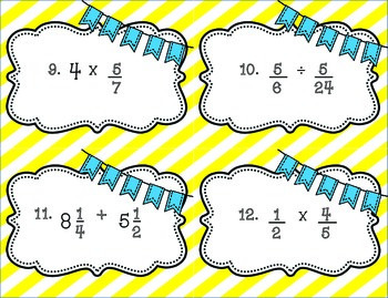 Spring Themed Fraction Color By Number {Add Subtract Multiply Divide}