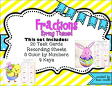 Spring Themed Fraction Color By Number {Add Subtract Multi