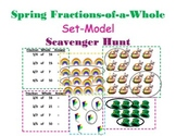 Fractions of a Whole Scavenger Hunt (Set Model)- Spring Themed