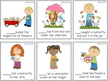Spring Themed Grammar Activities for Speech Therapy