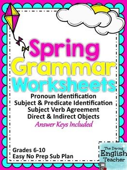 Spring Grammar Worksheets