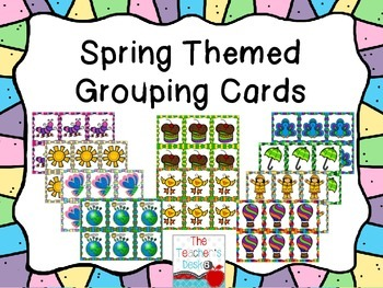 Spring Themed Grouping Cards