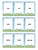 Spring Themed Homophone Concentration Game - Triplets