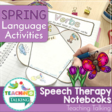 Spring Language Therapy Activities for Notebooks