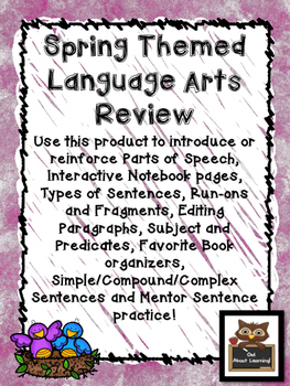 Spring Themed Language Arts Skills (parts of speech, sentences, & more!)