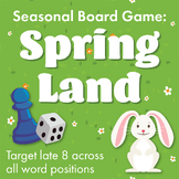 Late 8 Spring Board Game: All Word Positions Included