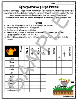 Spring Themed Logic Puzzles