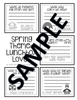 Spring Themed Lunch Box Loves & Jokes