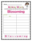 Spring Themed Making Words!