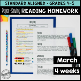 March Reading Homework for 4th & 5th PAPER-SAVING color te