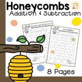 Spring Themed Matching the Honeycombs - Addition and Subtr