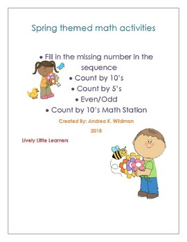 Spring Themed Math Activities