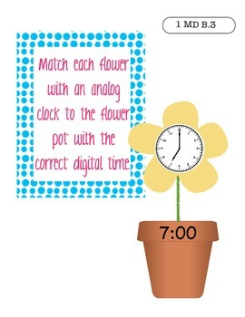 Spring-Themed Math Centers: Addition with Missing Numbers, Fact Families, & Time