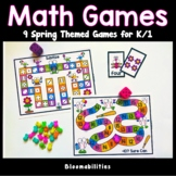 Spring Themed Math Games for K/1