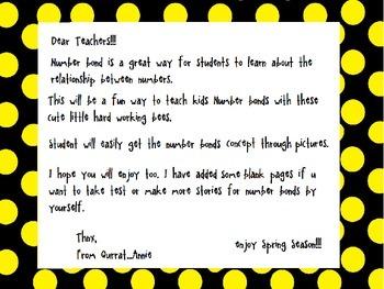 Spring Themed Math, Honey Bee Number Bonds Worksheets: