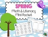 Spring Themed Math & Literacy Mini Packet