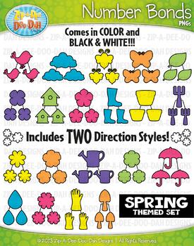Spring Themed Math Number Bonds Clipart {Zip-A-Dee-Doo-Dah
