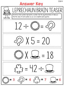 Spring Themed Math Printables - 3rd Grade