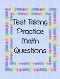 Spring Themed Math Review Problem Cards for Test Prep- Covers Many Concepts!