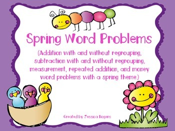 Spring Themed Math Word Problems