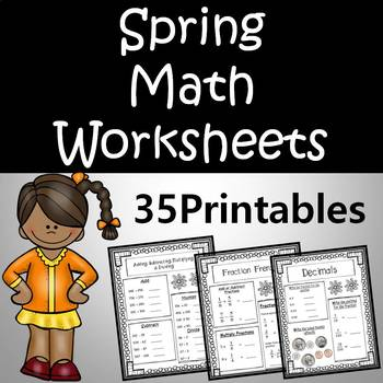 Spring Themed Math Worksheets