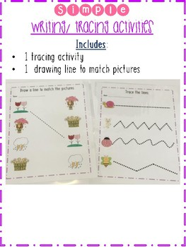 Spring Themed Math & Writing Task Boxes, Centers or File Folders