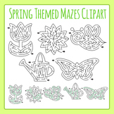Spring Themed Mazes Clip Art Set for Commercial Use