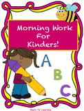 Spring Themed Morning Work for Kindergarten! 50+ NO PREP P
