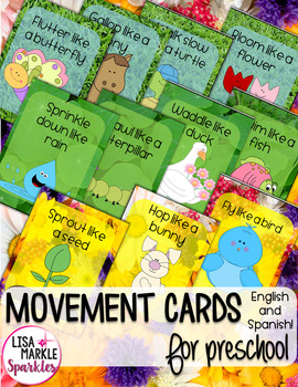 Spring Themed Movement Cards for Preschool and Brain Break