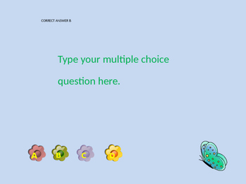 Spring Themed Multiple Choice PPT Review Game Template