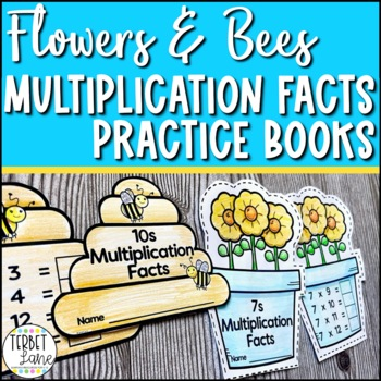 Spring Themed Multiplication Facts Practice Books and Wall Signs