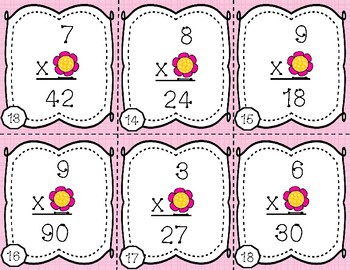 Spring Themed Multiplication Practice