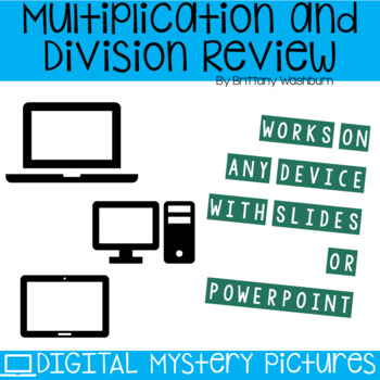 Spring Themed Multiplication and Division Practice DIGITAL Mystery Pictures