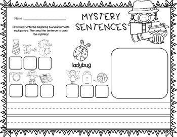 Spring Themed Mystery Sentences (Ready in a Jiffy April FREEBIE)