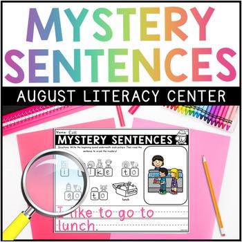 AUGUST Mystery Sentences FREEBIE