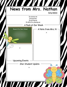 Spring Themed Newsletter
