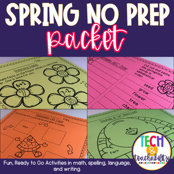 Spring Themed No Prep Packet!