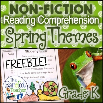 Spring Themed Non-Fiction Reading Comprehension Passages SAMPLE