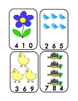 Spring Themed Number Clip Cards