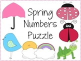 Spring Themed Numbers 1-20, Numbers 1-20 with Numbers Spelled Out Puzzles PACK