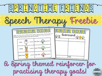 Spring Themed Open-Ended Game for Speech Therapy