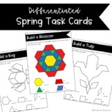 Spring Themed Pattern Block Task Cards